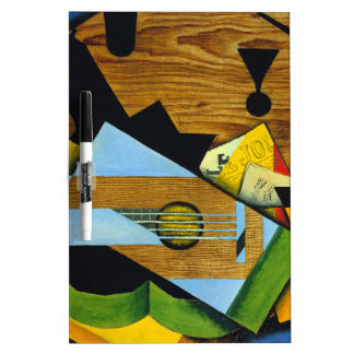 Still Life with a Guitar by Juan Gris Dry-Erase Board