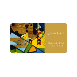Still Life with a Guitar by Juan Gris Label