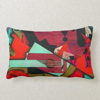 Still Life with a Guitar by Juan Gris Lumbar Pillow