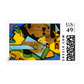 Still Life with a Guitar by Juan Gris Postage Stamp