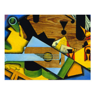 Still Life with a Guitar by Juan Gris Postcard
