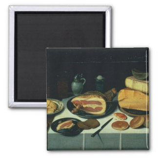 Still Life with a Ham (oil on panel) Magnet