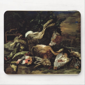 Still Life with a Hare, Song Birds and a Bird Net Mouse Pad