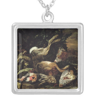 Still Life with a Hare, Song Birds and a Bird Net Jewelry