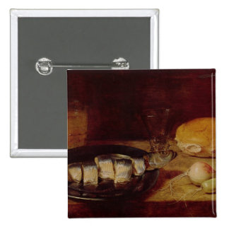 Still Life with a Herring 2 Inch Square Button