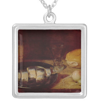 Still Life with a Herring Silver Plated Necklace