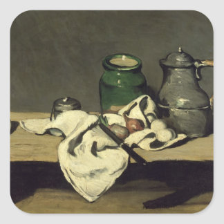 Still Life with a Kettle, c.1869 Square Sticker