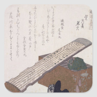 Still Life with a Koto, c.1810 Square Sticker