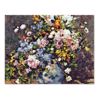 Still Life With A Large Flower Vase 4.25x5.5 Paper Invitation Card