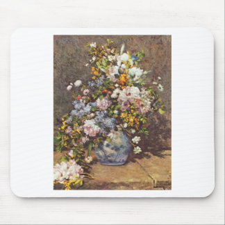 Still Life With A Large Flower Vase Mouse Pad