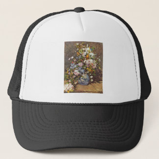 Still Life With A Large Flower Vase Trucker Hat