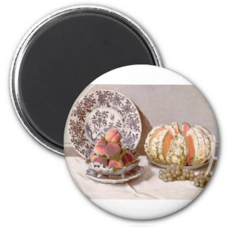 Still Life with a Melon (1872) 2 Inch Round Magnet