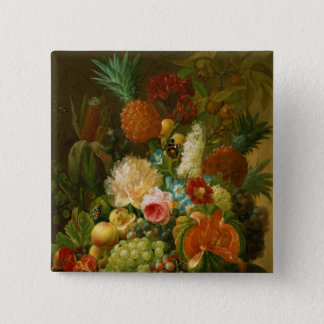 Still Life with a Melon and Grapes Pinback Button