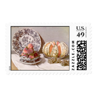 Still Life with a Melon - Claude Monet Stamp