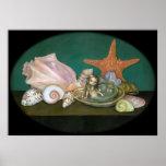 Still Life with a Mermaid fantasy Art Print
