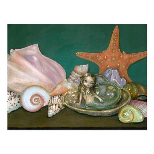 """Still Life with a Mermaid"" Postcard"