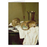 Still Life with a Nautilus Cup Greeting Card