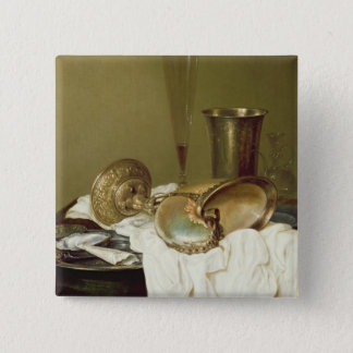 Still Life with a Nautilus Cup Pinback Button