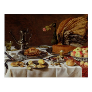 Still Life with a Peacock Pie, 1627 Postcard