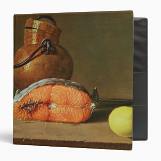 Still Life with a Piece of Salmon Vinyl Binder