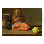Still Life with a Piece of Salmon Greeting Card