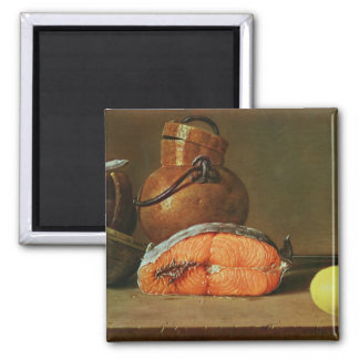 Still Life with a Piece of Salmon Fridge Magnet