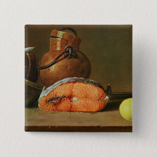 Still Life with a Piece of Salmon Pinback Button