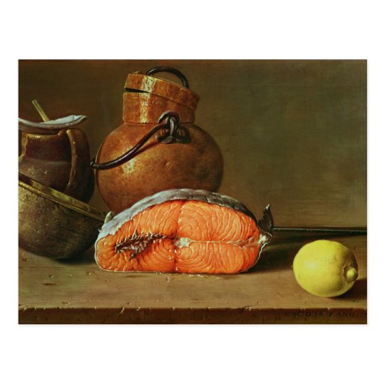 Still Life with a Piece of Salmon Postcard