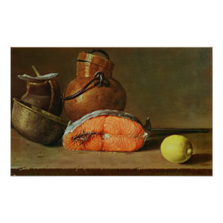Still Life with a Piece of Salmon Poster