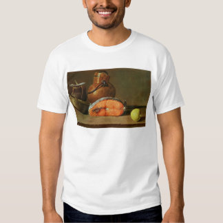 Still Life with a Piece of Salmon Tee Shirt