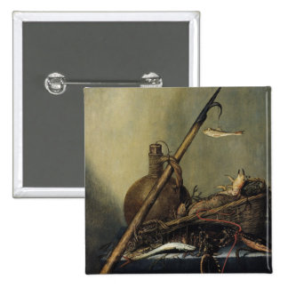 Still Life with a Pitcher and Crustaceans 2 Inch Square Button