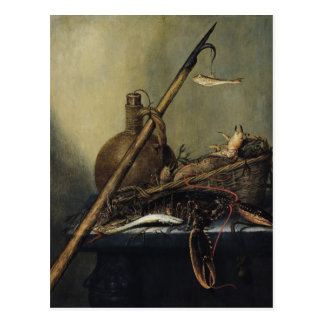 Still Life with a Pitcher and Crustaceans Postcard