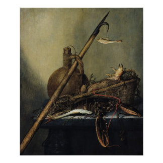 Still Life with a Pitcher and Crustaceans Poster