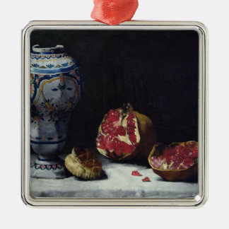 Still Life with a Pomegranate Metal Ornament