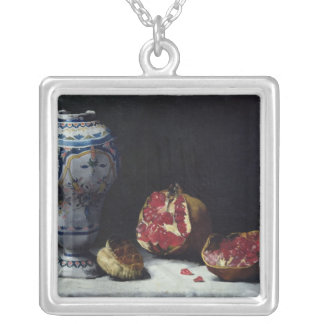 Still Life with a Pomegranate Silver Plated Necklace