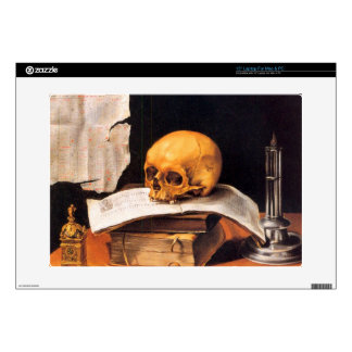 """Still life with a Skull and an almanac - Stoskopff Decal For 15"""" Laptop"""