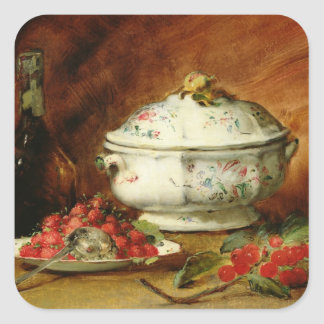 Still Life with a Soup Tureen Square Sticker