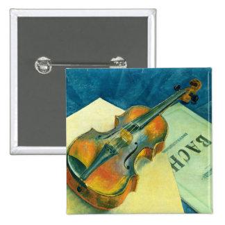 Still Life with a Violin, 1921 2 Inch Square Button