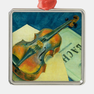 Still Life with a Violin, 1921 Metal Ornament