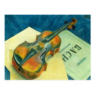 Still Life with a Violin, 1921 Post Card