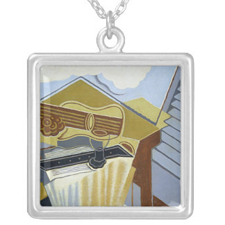 Still Life with a White Cloud Square Pendant Necklace