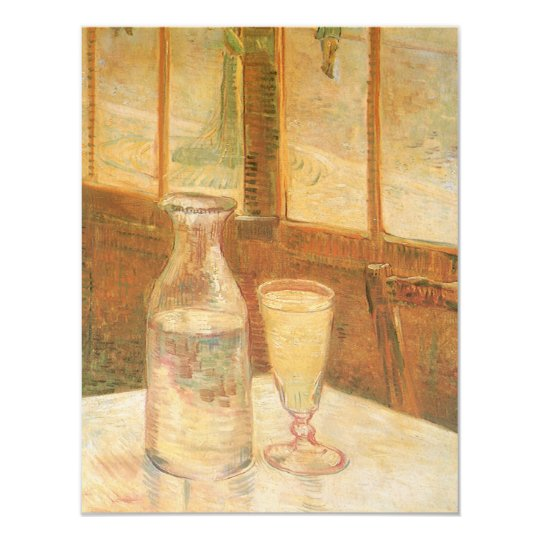 Still Life with Absinthe by Vincent van Gogh Card