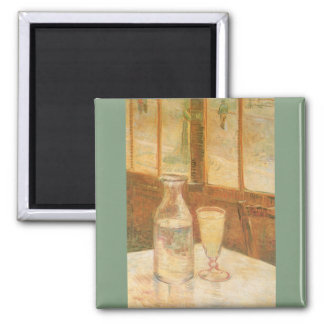 Still Life with Absinthe by Vincent van Gogh Magnets