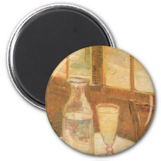 Still Life with Absinthe by Vincent van Gogh Fridge Magnet