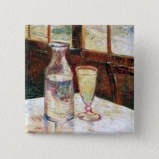 Still Life with Absinthe Van Gogh Fine Art Pinback Button