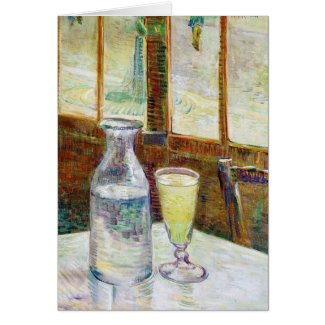 Still Life with Absinthe Vincent van Gogh paint Greeting Cards