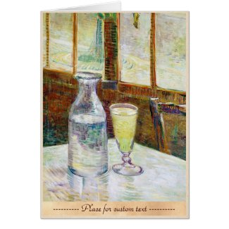 Still Life with Absinthe Vincent van Gogh paint Cards