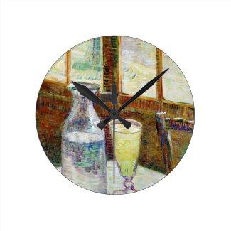 Still Life with Absinthe Vincent van Gogh paint Wallclocks
