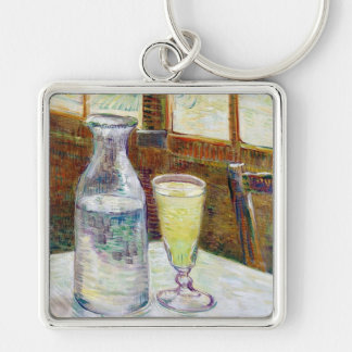 Still Life with Absinthe Vincent van Gogh paint Keychain