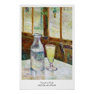 Still Life with Absinthe Vincent van Gogh paint Poster
